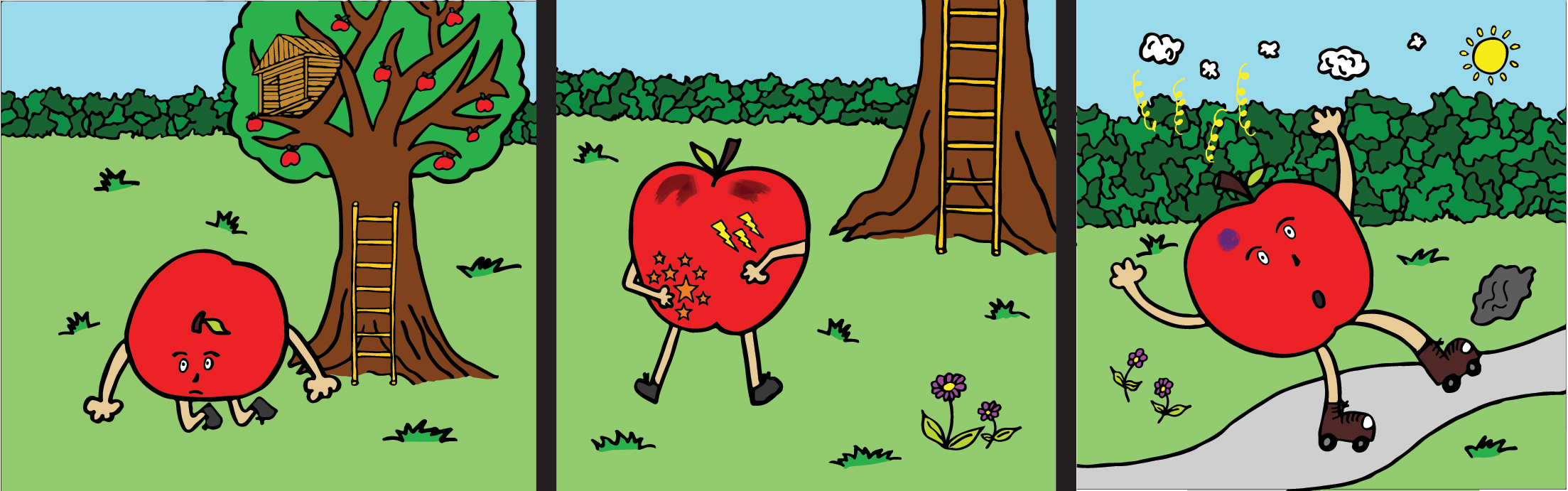 Bedtime stories - Adrian the Apple - children's book 1
