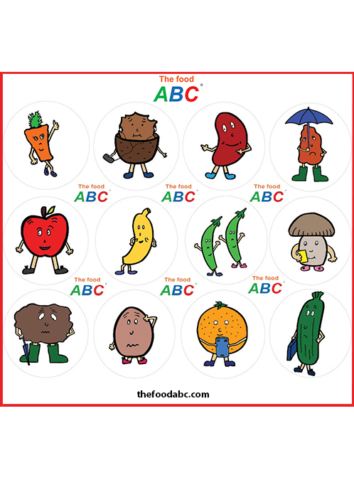 The Food ABC | Stickers | 120 pieces (10 sheets) 1